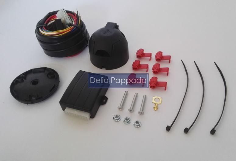 Schema Collegamento Gancio Traino : Kit cablaggio poli con centralina impianto elettrico gancio