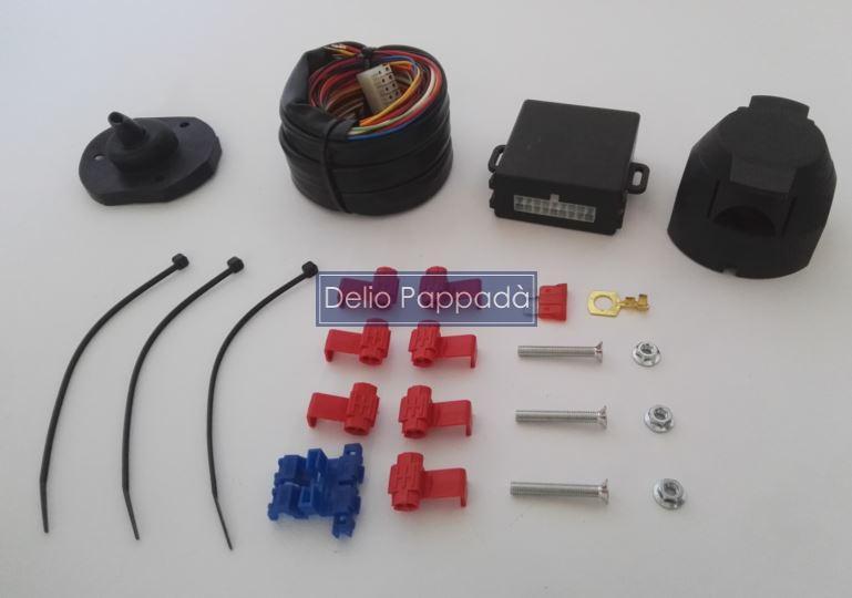 Schema Elettrico Cablaggio Gancio Traino : Kit cablaggio poli con centralina impianto elettrico